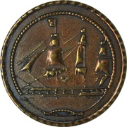 Token - Pirate Toy Coin 1721 – reverse