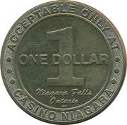 1 Dollar Gaming Token - Casino Niagara – reverse