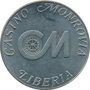 1 Dollar Gaming Token - Casino Monrovia – obverse