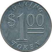 1 Dollar Gaming Token - Casino Monrovia – reverse