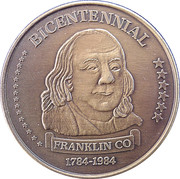 Token - Franklin County, PA Bicentennial – obverse