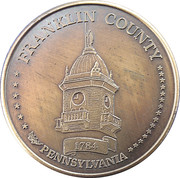Token - Franklin County, PA Bicentennial – reverse