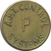 Token - A.P.T. Control Systems (22 mm) – reverse