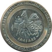 5 Dollar Gaming Token - Caesars (Atlantic City) – obverse
