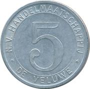 Token - N.V. Hadlesmaatschappij de Veluwe (5) – reverse