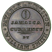 1 Penny - William Smith (Jamaica Currency) – obverse