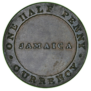 ½ Penny - William Smith (Jamaica Currency) – obverse