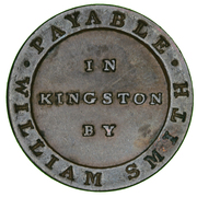 ½ Penny - William Smith (Jamaica Currency) – reverse