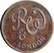 Vending Token - R&W London – obverse