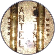 Telephone Token - ANTEL (double inscription; date) – obverse