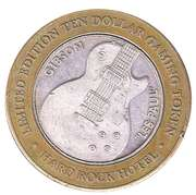 10 Dollar Game Token - Hard Rock Hotel (Las Vegas, Nevada) – obverse