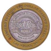 10 Dollar Game Token - Hard Rock Hotel (Las Vegas, Nevada) – reverse