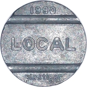 Telephone Token - National Local Call (Plastipar) – obverse