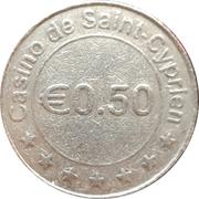 50 Cents - Casino de Saint-Cyprien – obverse