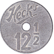 Token - Heck's 12 1/2 – obverse