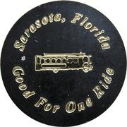 1 Ride Trolley Token - St. Armands Circle (Sarasota, Florida) – reverse