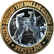 10 Dollars Gaming Token - State Line (Wendover, Nevada) – reverse