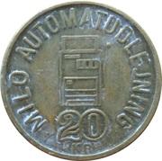 20 Kronen - Milo Automatudlejning – obverse