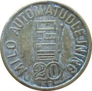 20 Kronen - Milo Automatudlejning – reverse
