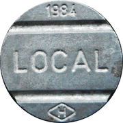 Telephone Token - National Local Call (H) – obverse