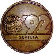 Token - Sevilla Expo'92 (La Cartuja) – reverse