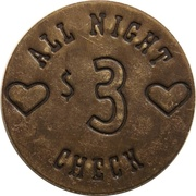 3 Dollars - Poke of Gold Saloon – reverse