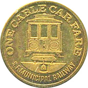 1 Cable Car Fare - San Francisco Municipal Railway (National Airlines) – reverse