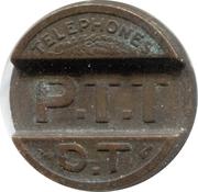 Telephone Token - Telephones Publics P.T.T (Brass) – reverse