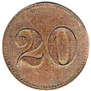20 Pfennig - Grand Café Windsor (Metz) – reverse