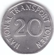 20 Pence - National Transport Token (N.C. Midi) – reverse