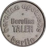 Berolina Taler - Berolina Apotheke (Berlin) – obverse