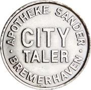 City Taler - Apotheke Sander (Bremerhaven) – obverse