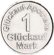 1 Glückauf Mark - Glückuaf Apotheke (Siegen) – reverse