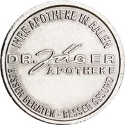 Dr. Jäger Taler - Dr. Jäger Apotheke (Aalen) – obverse