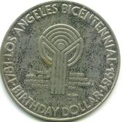Birthday Dollar - Los Angeles Bicentennial (The End of the Rainbow) – reverse