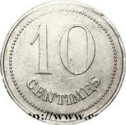 10 Centimes - POW camp (Etampes) – reverse