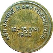 Token - 400 Jahre Marktgemeinde (Schwarzenbach) – reverse