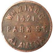 Token - W. M. Zingg California Billiard – reverse