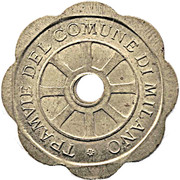 Token - Tramvie of the Municipality of Milan – obverse