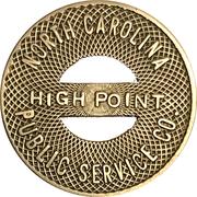 1 Fare - North Carolina Public Service Co. (High Point, NC) – obverse