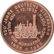 Token - 150 years of German Railroads (Elberfeld 1878) – reverse