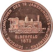 Token - 150 years of German Railroads (Elberfeld 1878) – obverse
