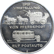 Token - Graubünden 50 Years Postauto Anniversary – reverse