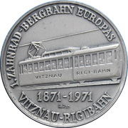 Token - Rigibahn Toothed Rail 100th Anniversary – obverse