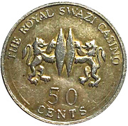 50 Cents - The Royal Swazi Casino – reverse