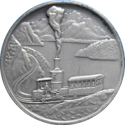 Token - Rigibahn Toothed Rail 100th Anniversary – reverse