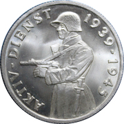Medallion - Aktivdienst (For Active Duty during 1939 to 1945) – obverse