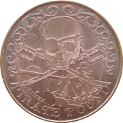10 Pirate Pound Simba (Swords) – obverse