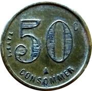 50 Centimes - Durand – reverse