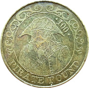100 Pirate Pound Simba – reverse